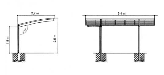 alu carport. Black Bedroom Furniture Sets. Home Design Ideas